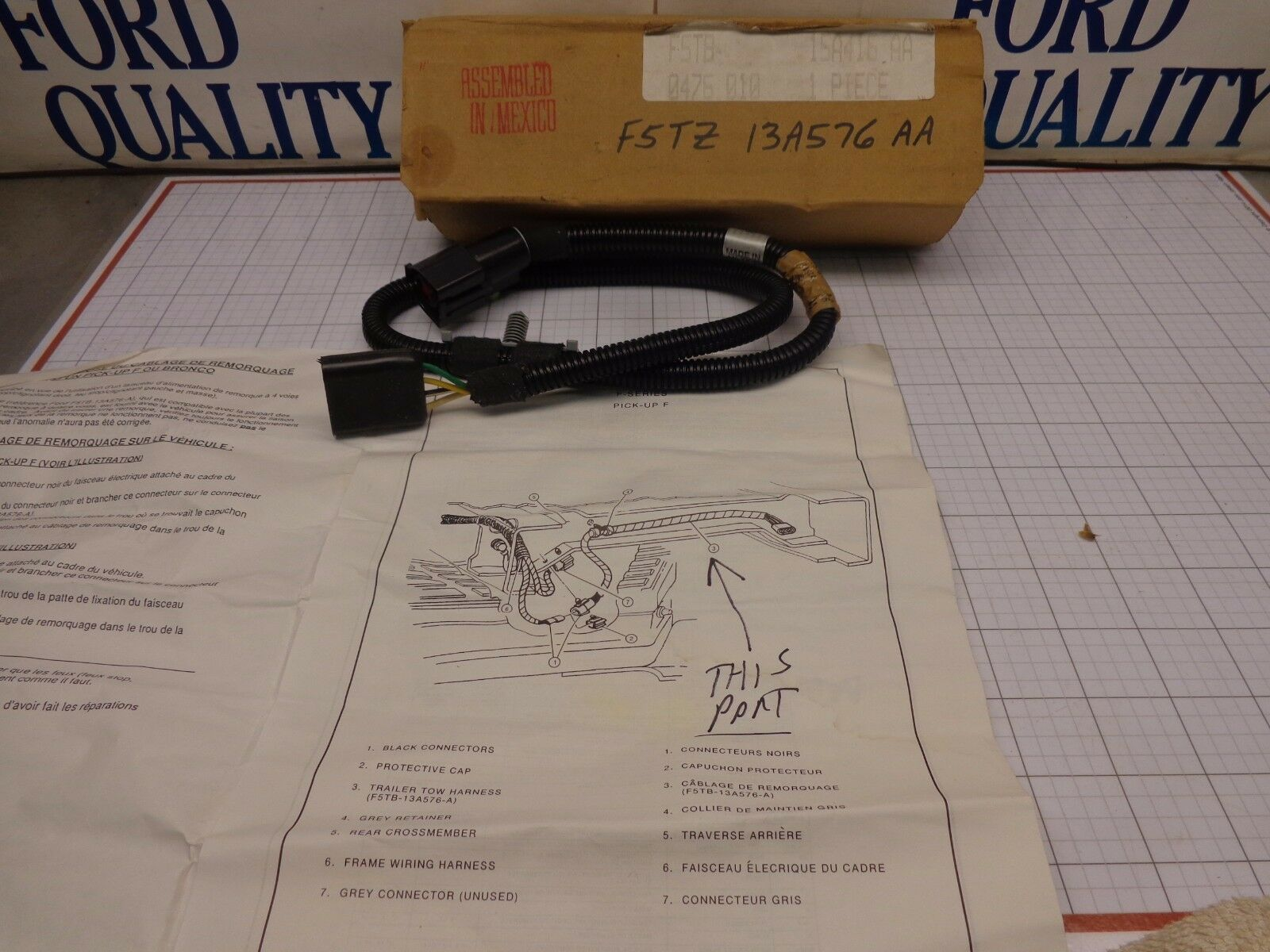 Ford Oem Nos F5tz 13a576 Aa Trailer Tow Light Wire Wiring Harness 1 Of 4only Available