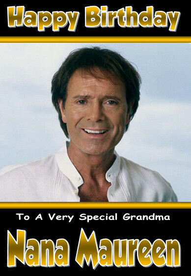 Cliff Richard New 3 Personalised Birthday Card Any Name Age