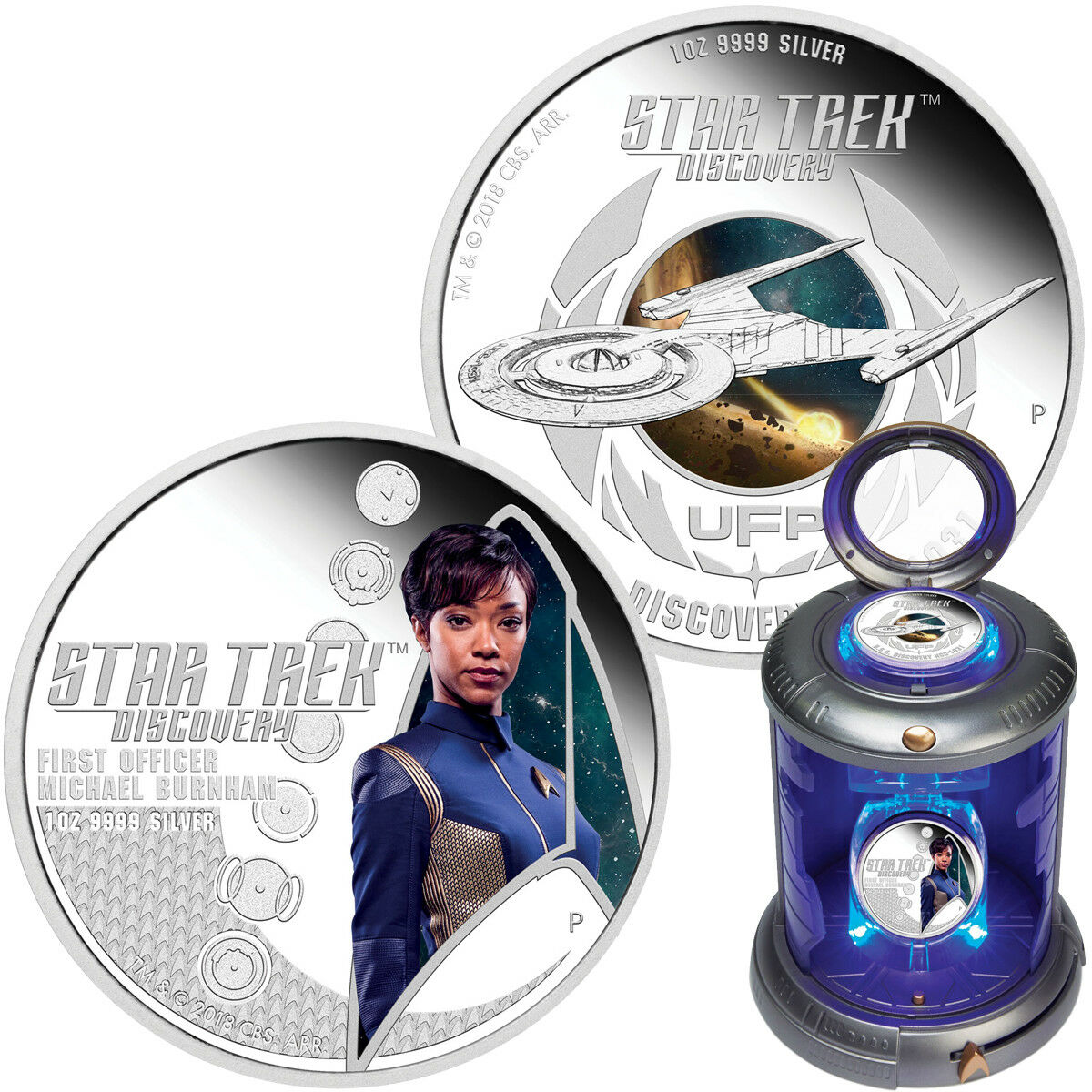 Tuvalu 2x 1 Dollar 2018 Star Trek Discovery First Officer Burnham 1