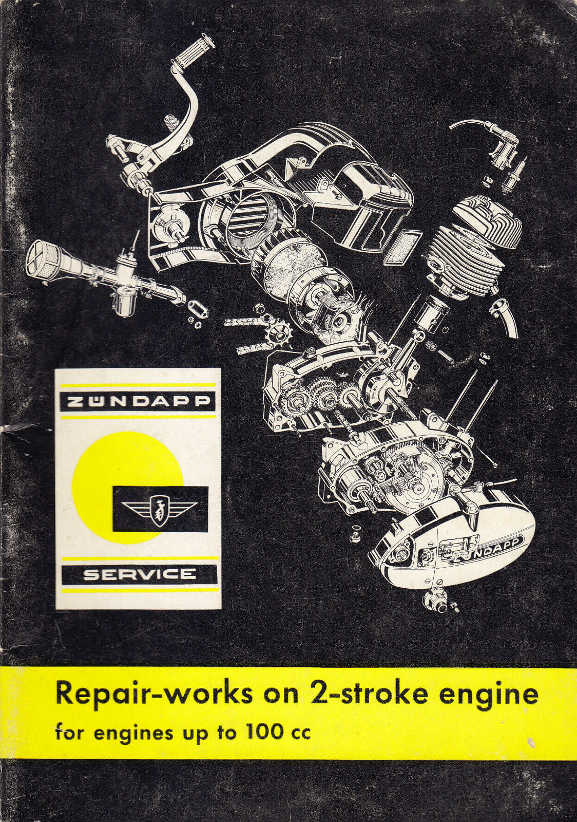 1966 ZUNDAPP REPAIR ON 2-STROKE ENGINES UP TO 100cc MOTORCYCLE SERVICE  MANUAL 1 of 7Only 1 available ...