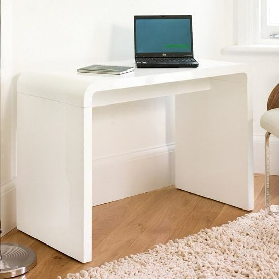 Hudson Computer Desk Rectangular In White High Gloss 1 Of 3only 3 Available
