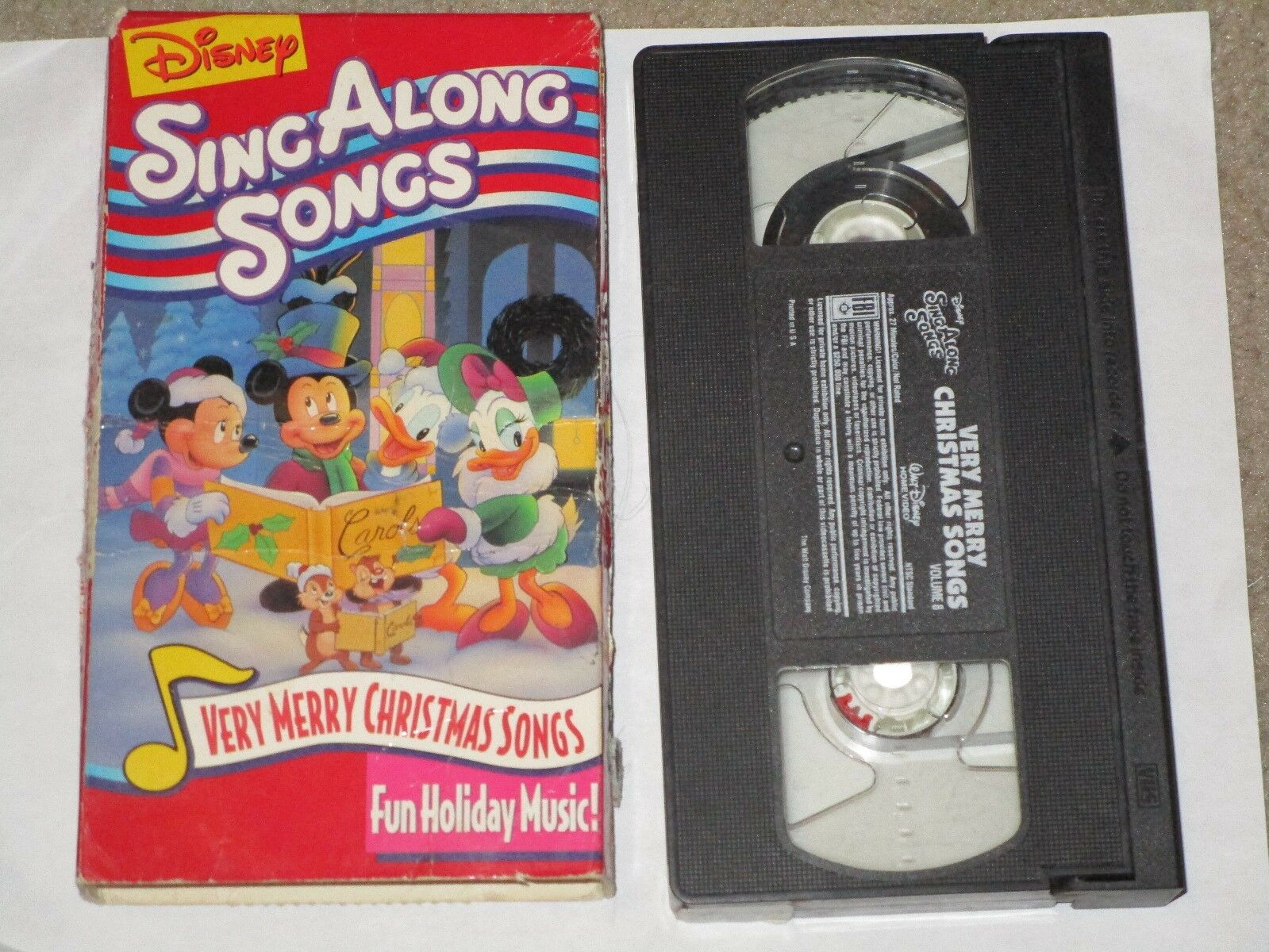 VINTAGE DISNEY SING Along Songs Very Merry Christmas Songs Vhs Tape ...