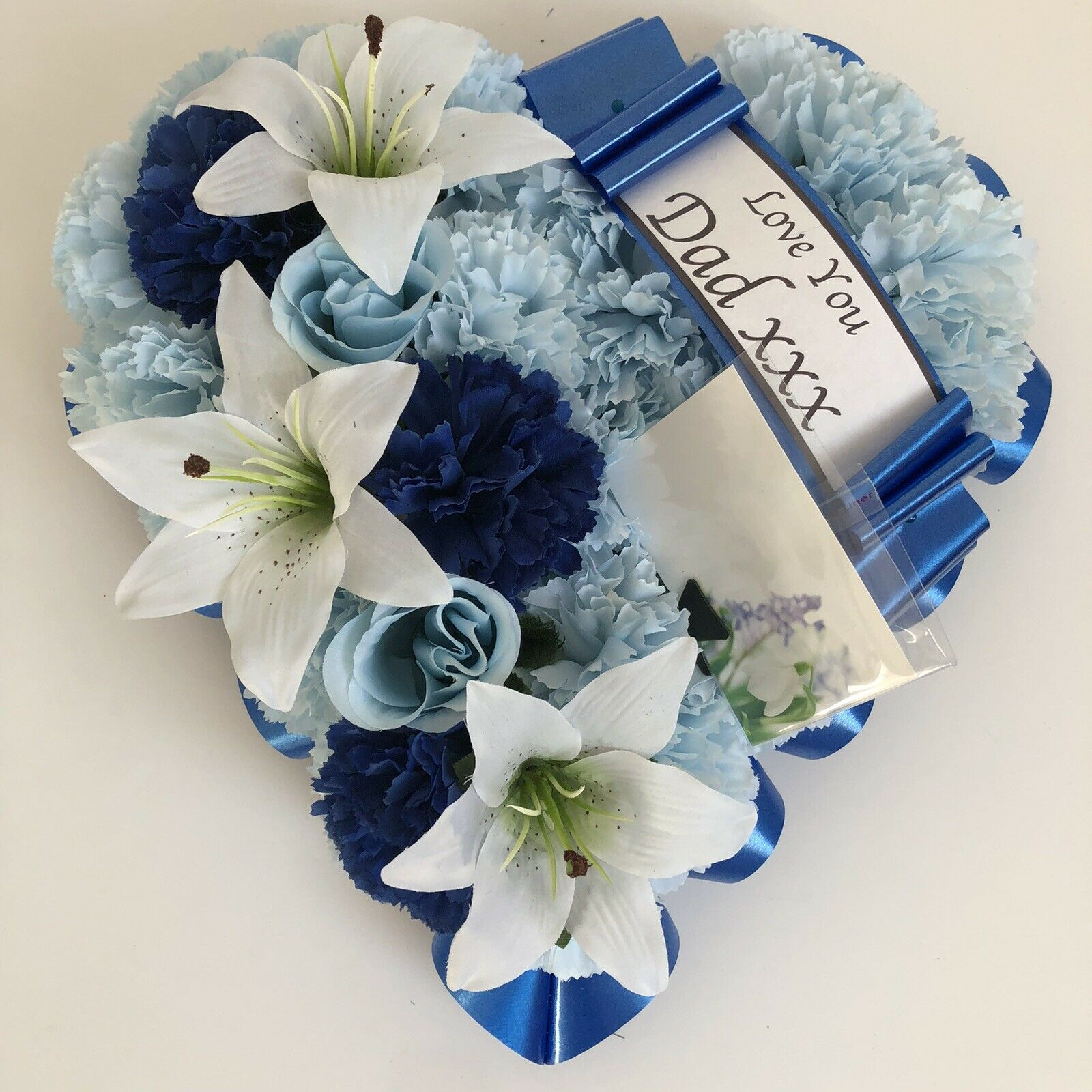 Heart shaped silk artificial funeral flowers wreathmemorialgrave 1 of 4free shipping izmirmasajfo