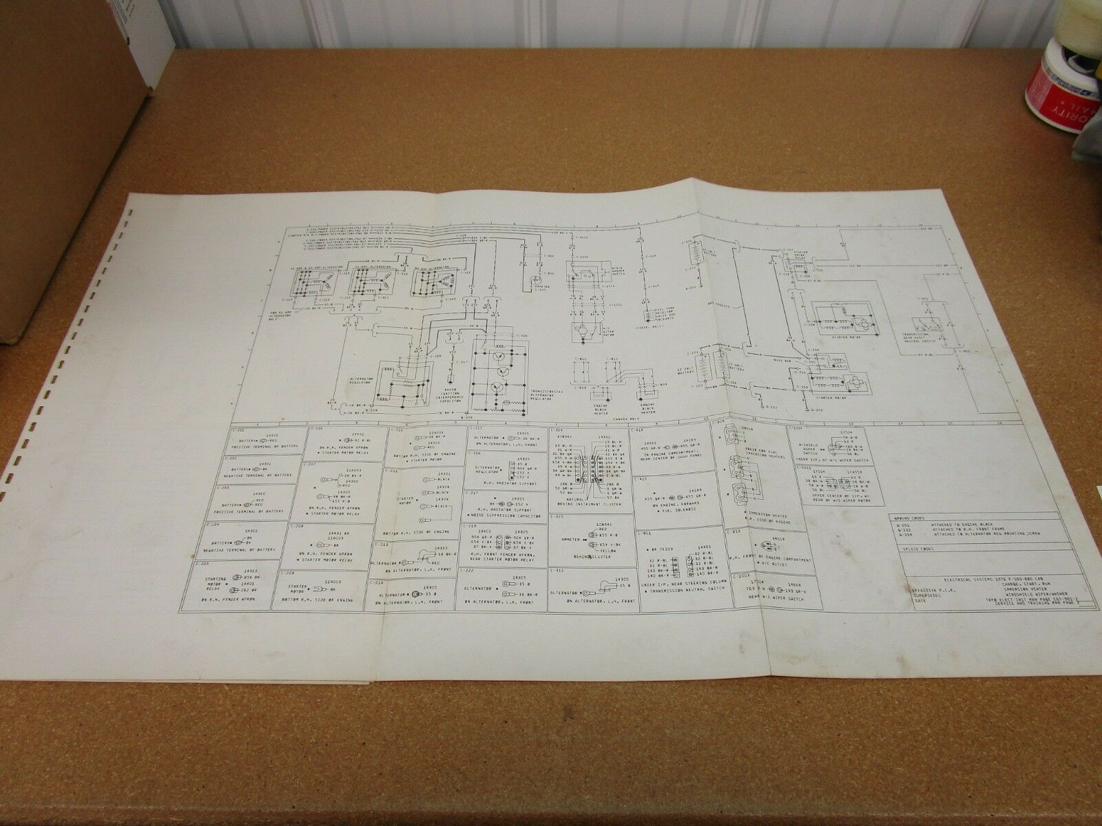 1976 ford f500 f600 f750 truck wiring diagram sheet schematics rh picclick co uk Ford Electrical Wiring Diagrams Ford E-150 Wiring-Diagram