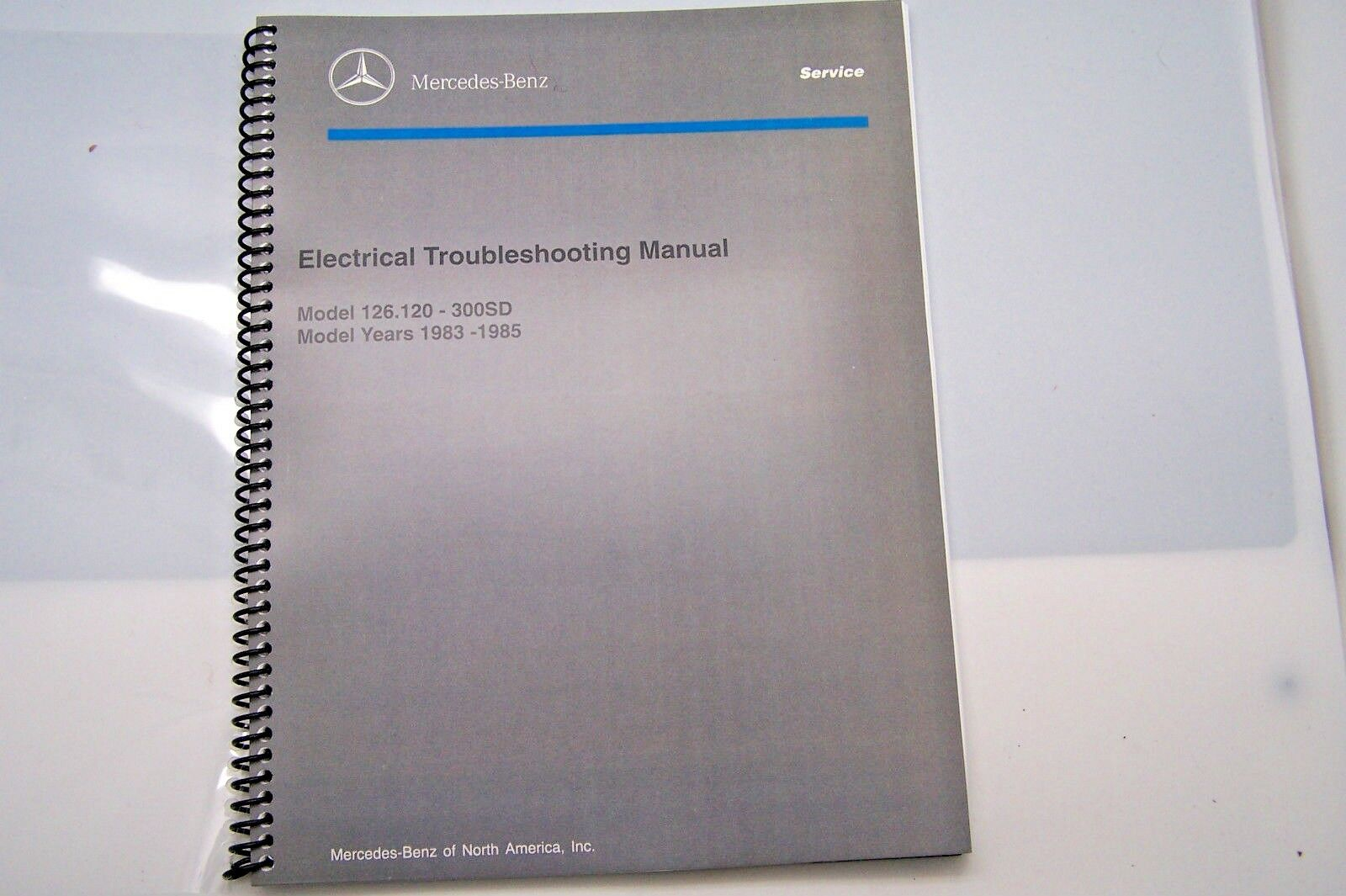 300sd Owners Manual Mercedes Benz Wiring Diagram 1985 1983 Electrical Service W126 1984 Rh Picclick Com Turbo Diesel