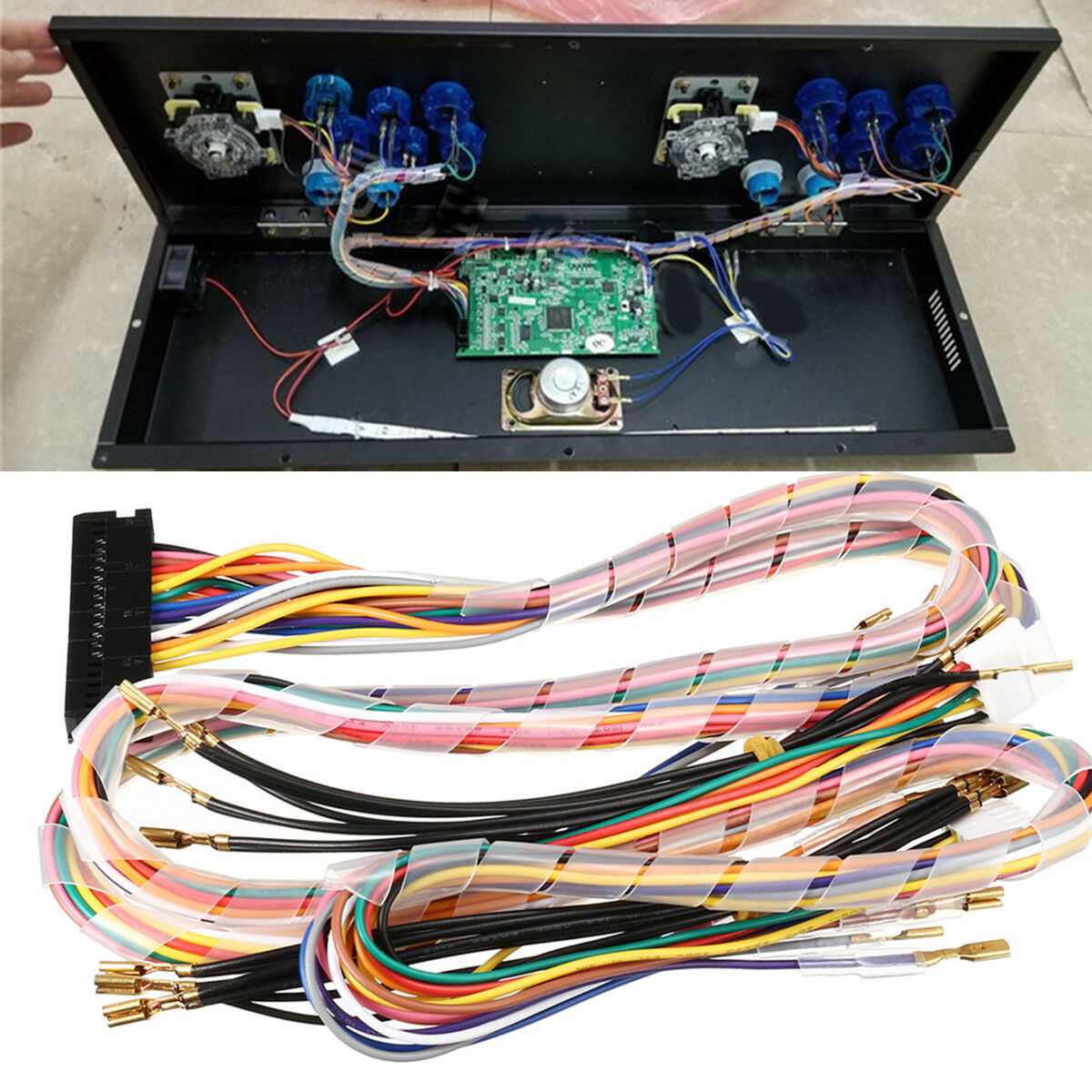 Wiring Harness Cable Replacement Parts Assemble For Arcade Jamma 2 Wire Connector Pcb 1 Of 12only 3 Available