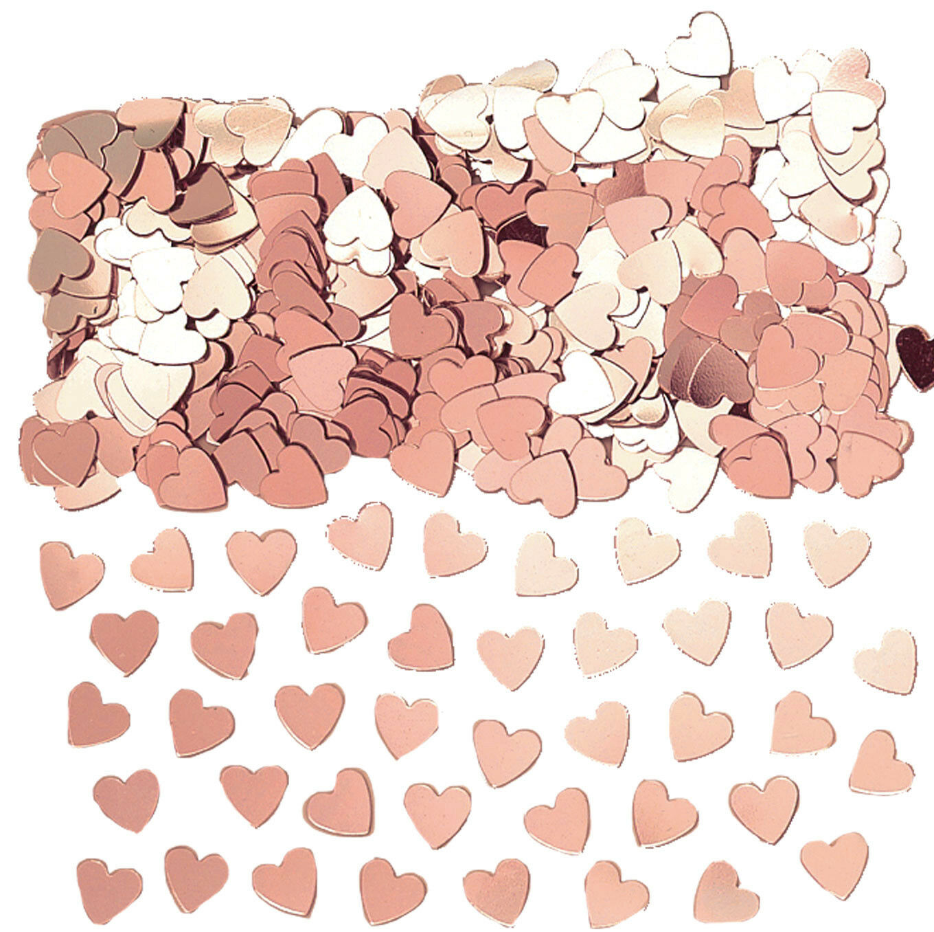 ROSE GOLD HEARTS Table Confetti Wedding Engagement Anniversary Party ...