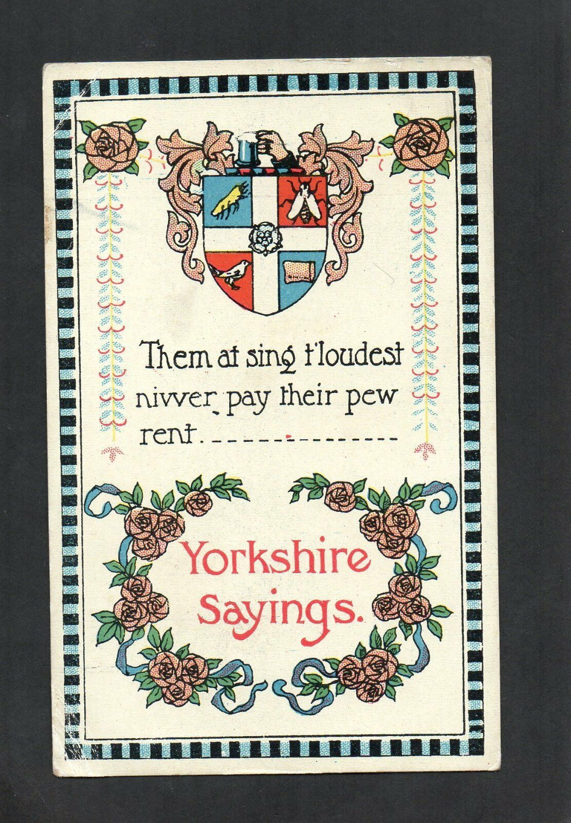 yorkshire sayings postcard them at sing t loudest 1 00