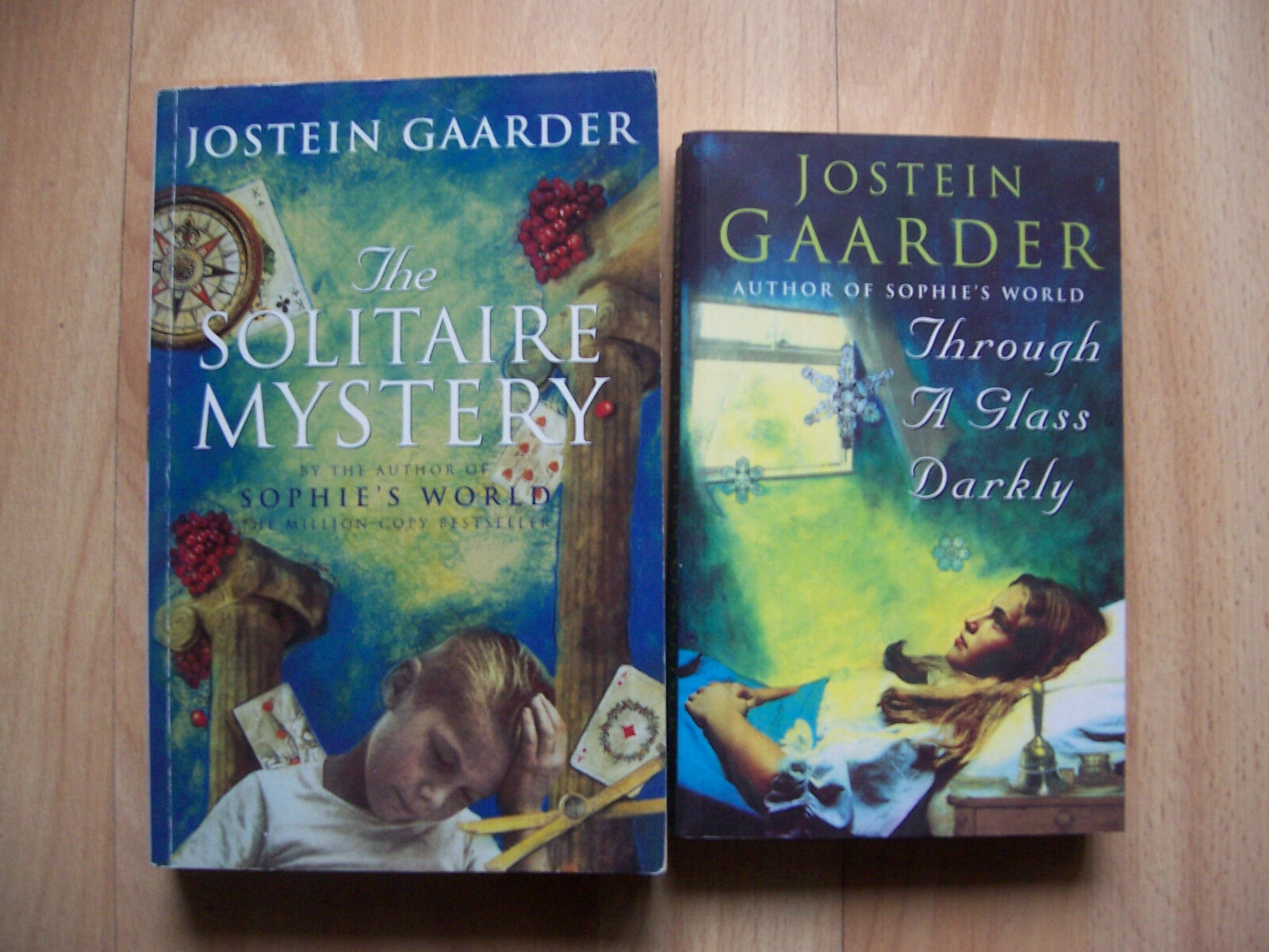2 books jostein gaarder through a glass darkly and the solitaire 1 of 1free shipping fandeluxe Images