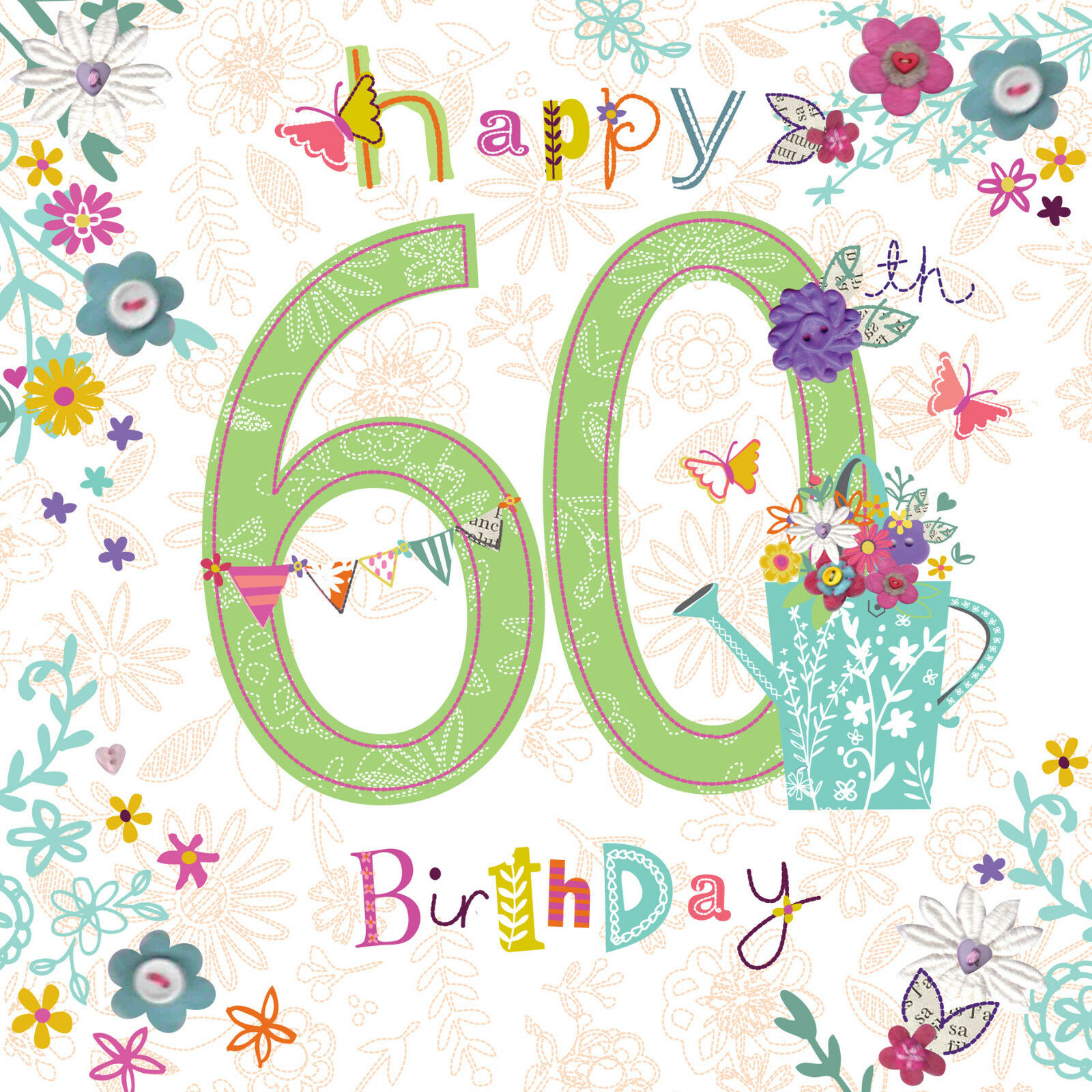Beautiful colourful glitter coated happy 60th birthday greeting card beautiful colourful glitter coated happy 60th birthday greeting card 1 of 2free shipping see more m4hsunfo