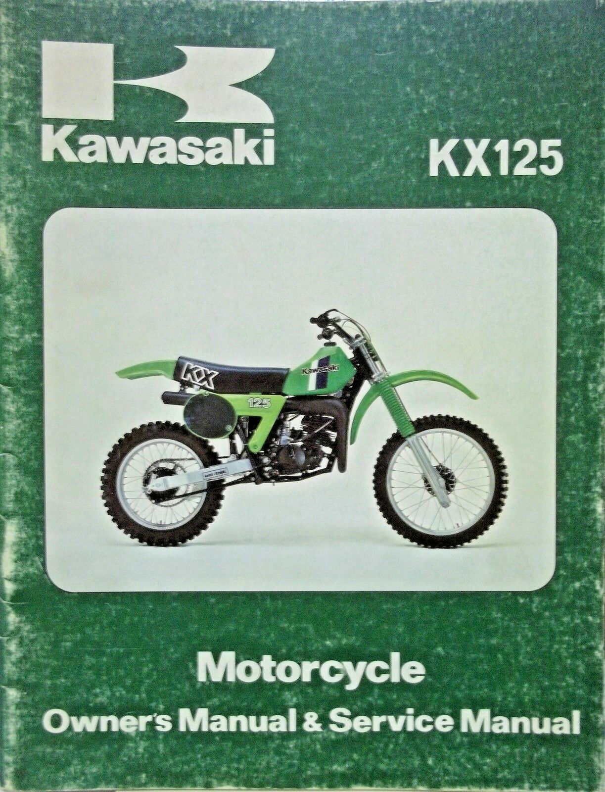 Kawasaki 1980 KX125 KX 125-A6 OWNER SERVICE MANUAL 1 of 1Only 3 available  ...