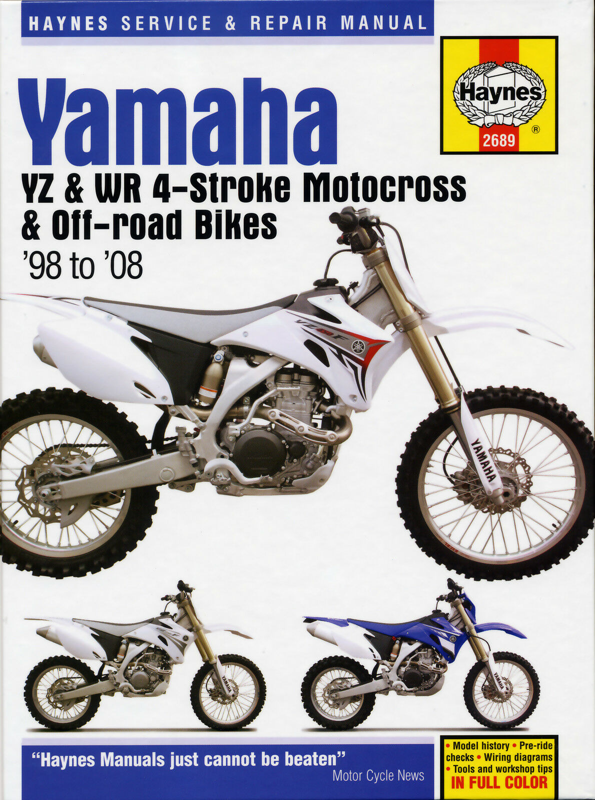 Haynes Manual 2689 - Yamaha YZ250F, WR250F, YZ400F, WR400F - service &  repair 1 of 1FREE Shipping See More