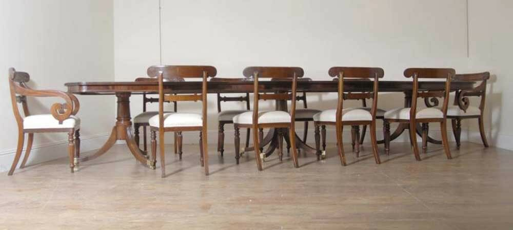 10 English William IV Dining Chairs Regency Chair
