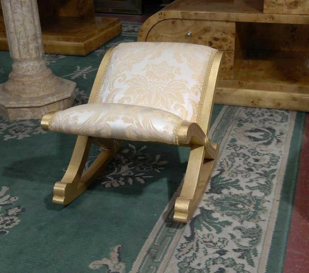 Frence Empire Stool Foot Rest Giltwood