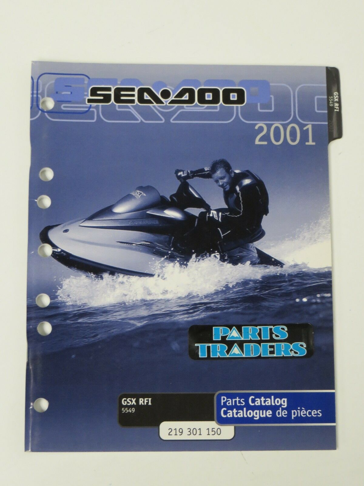 Bombardier Sea-Doo Dealer Parts Catalog Diagrams Manual GSX RFI 5549 2001  BRP 1 of 1Only 1 available ...