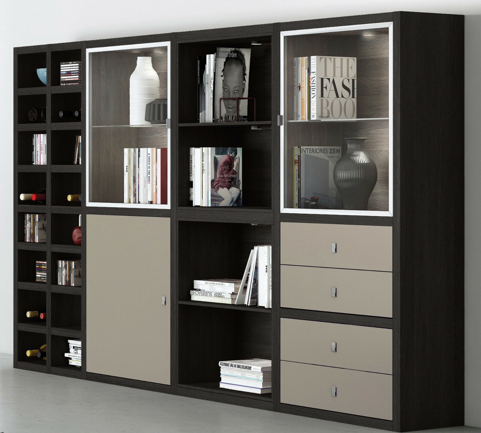 regal wohnzimmer wei. Black Bedroom Furniture Sets. Home Design Ideas
