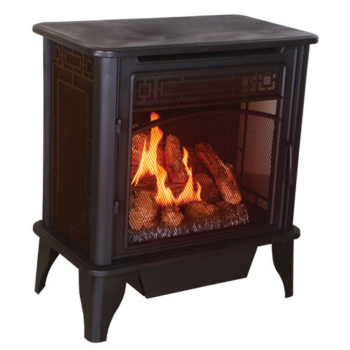 ventless gas stove heater fireplace propane gas