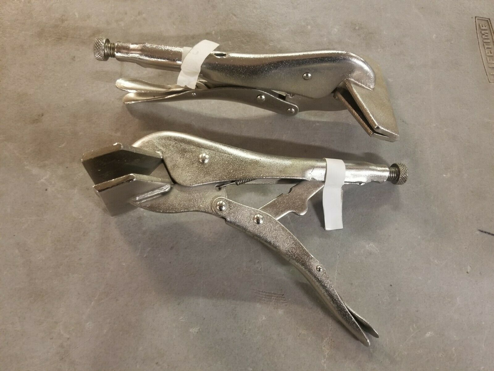 Pair of Heavy Vise Pliers for Clamping metal welding