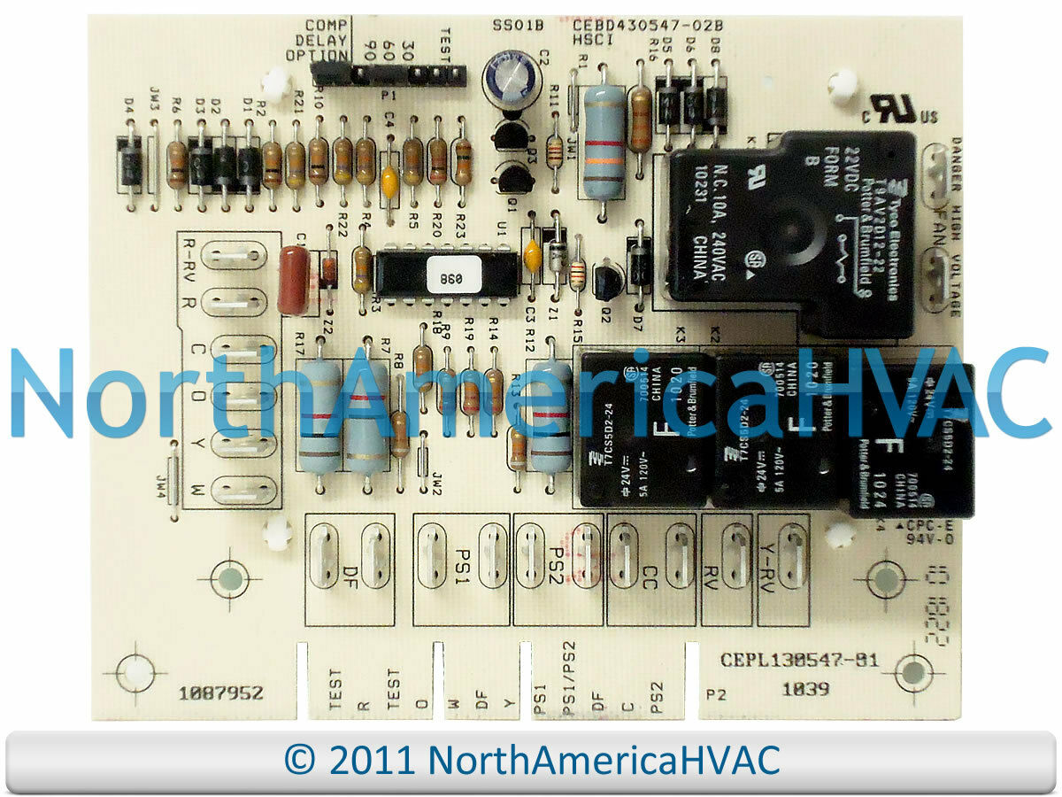 Oem Icp Heil Tempstar Sears Defrost Control Circuit Board 1087952 Furnace Wiring Diagram 1087515 1 Of 1free Shipping