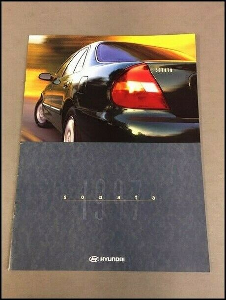 1997 Hyundai Sonata 16-page Original Sales Brochure Catalog 1 of 1Only 3  available ...