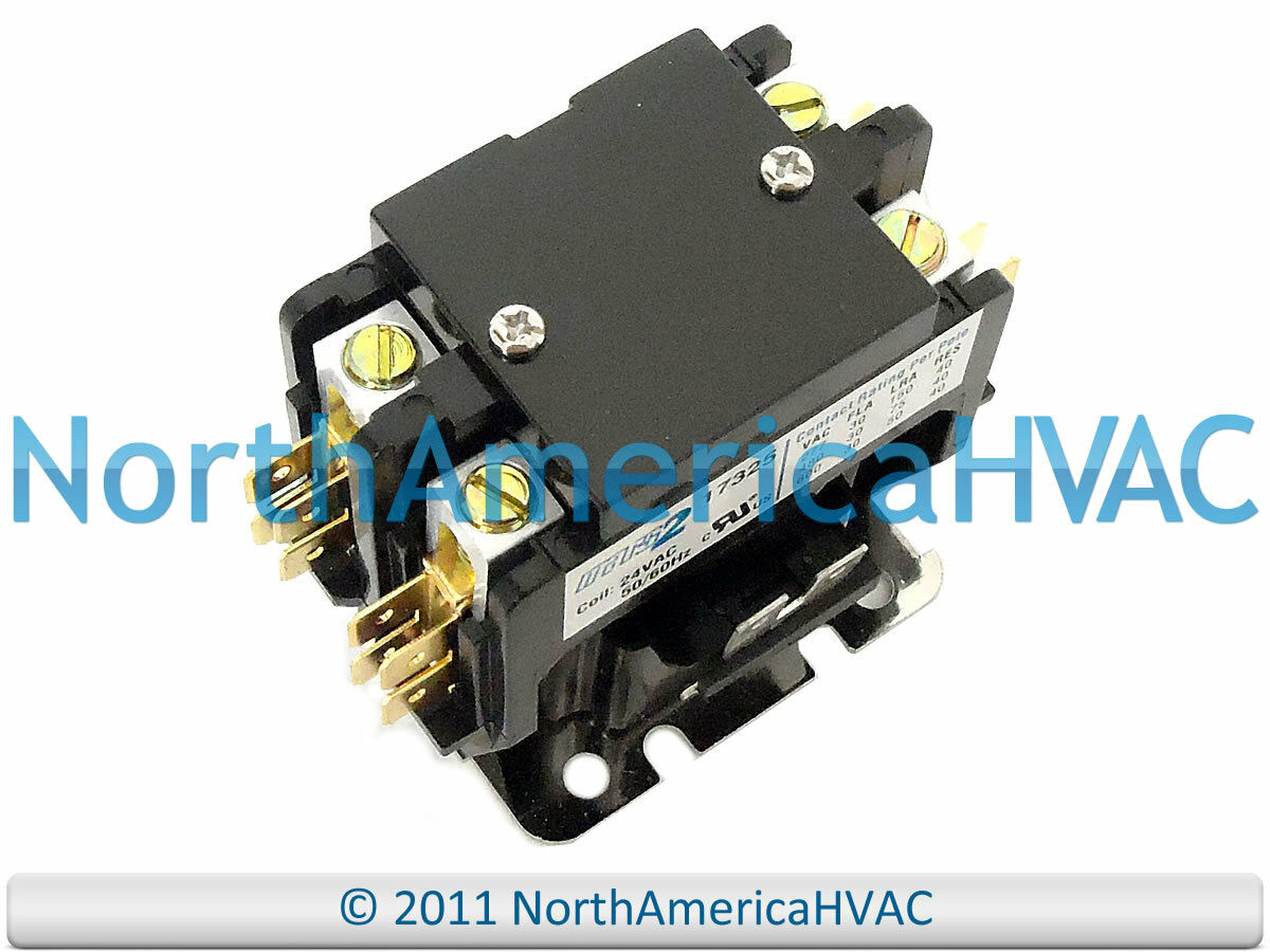Double 2 Pole 30 Amp 24 Volt Contactor Relay Siemens Furnas Ge 61345 4 Wiring Diagram Control 1 Of 1free Shipping