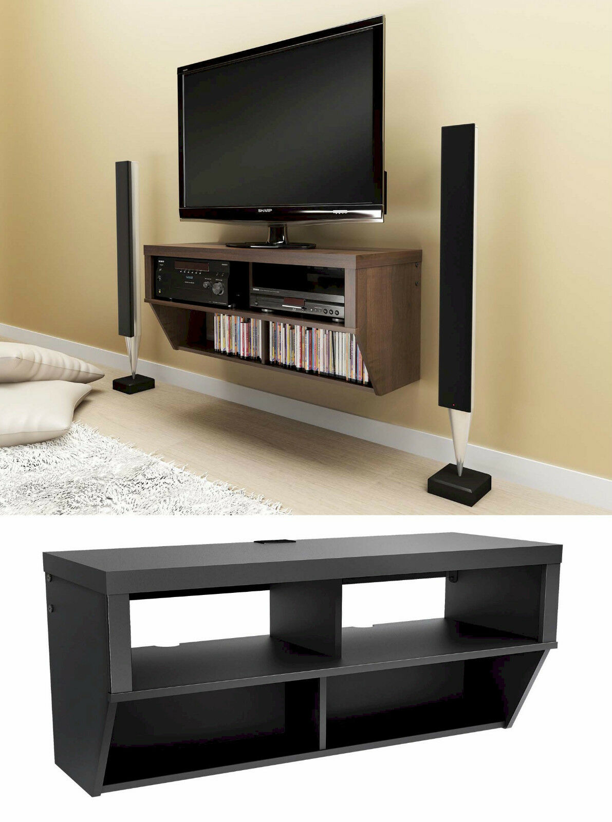 42 Quot Wall Mounted Entertainment Console Lcd Led Tv Stand W