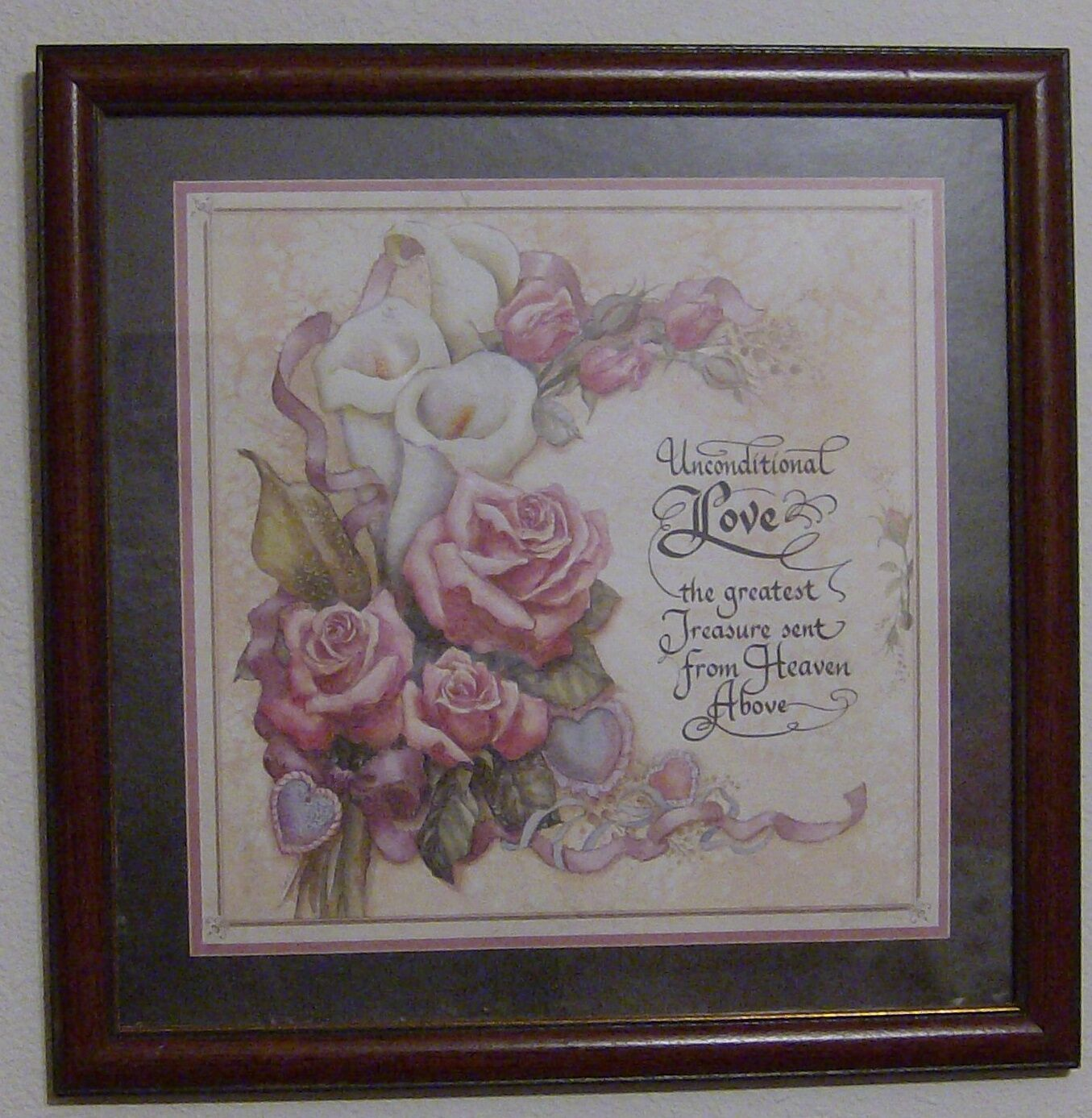 homco home interior picture roses joan cole signed 13 5