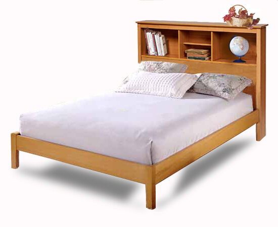 Queen Bed with Bookcase Headboard Plans 550 x 450