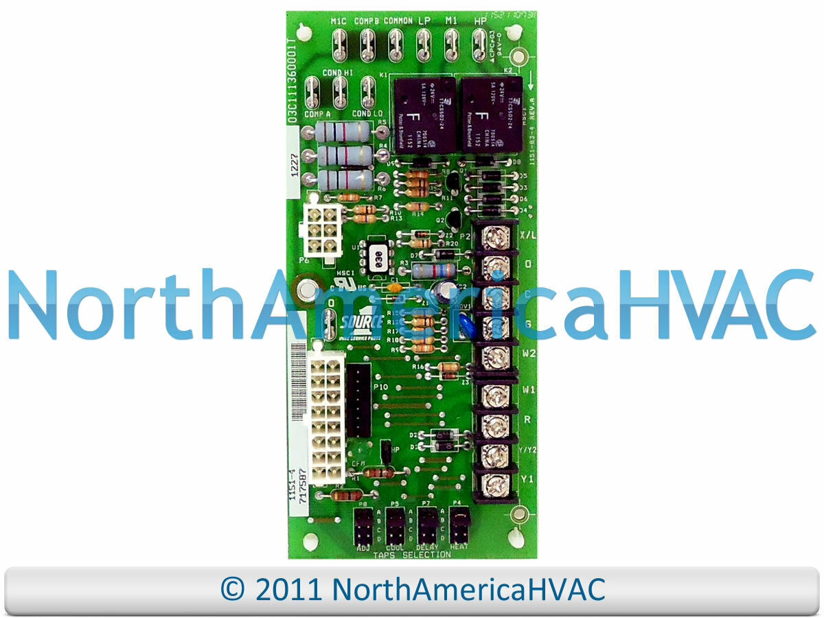 Oem York Luxaire Coleman Cfm Control Circuit Board 717587 1151 4 031 Air Conditioners Wiring Diagrams 1 Of 1free Shipping