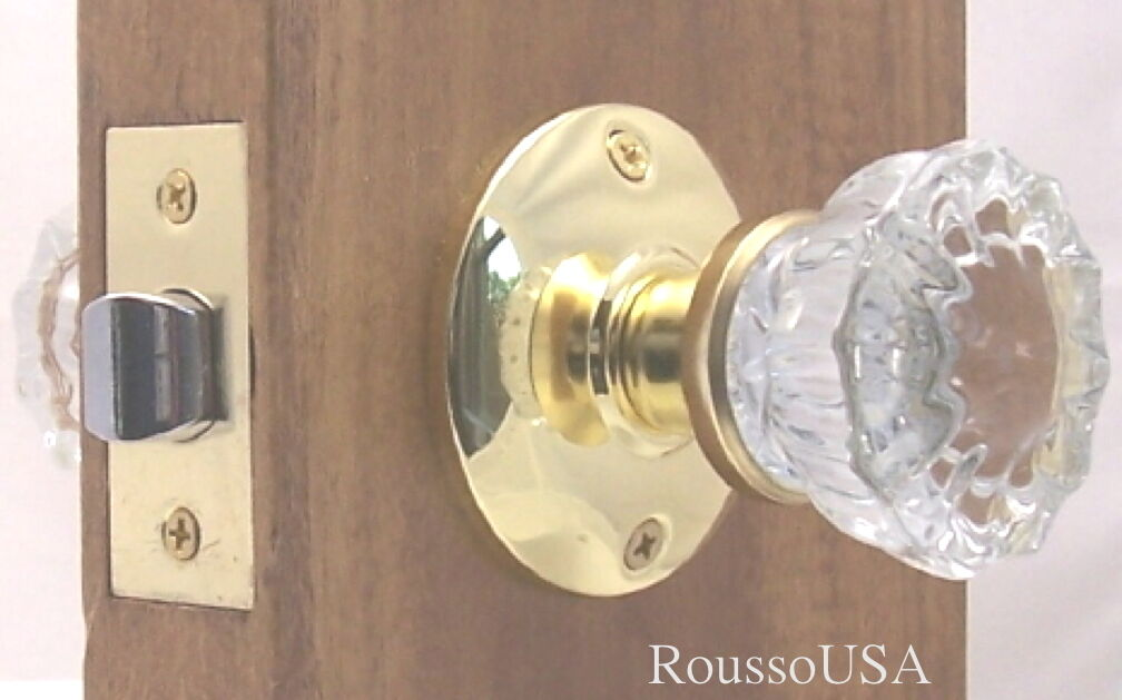LOT 3 Very affordable Fluted Crystal Glass Passage Knob Sets-to fit modern Doors