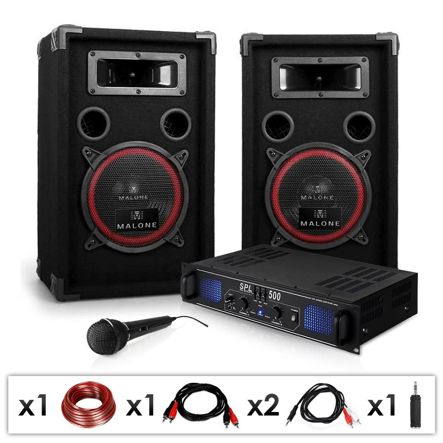 pack sono dj actif complet dj 14 ampli pa 2 enceintes 8 micro karaoke 1000w eur 139 99. Black Bedroom Furniture Sets. Home Design Ideas