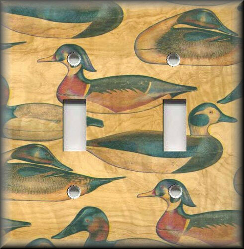 Light Switch Plate Cover Rustic Lodge Hunting Ducks