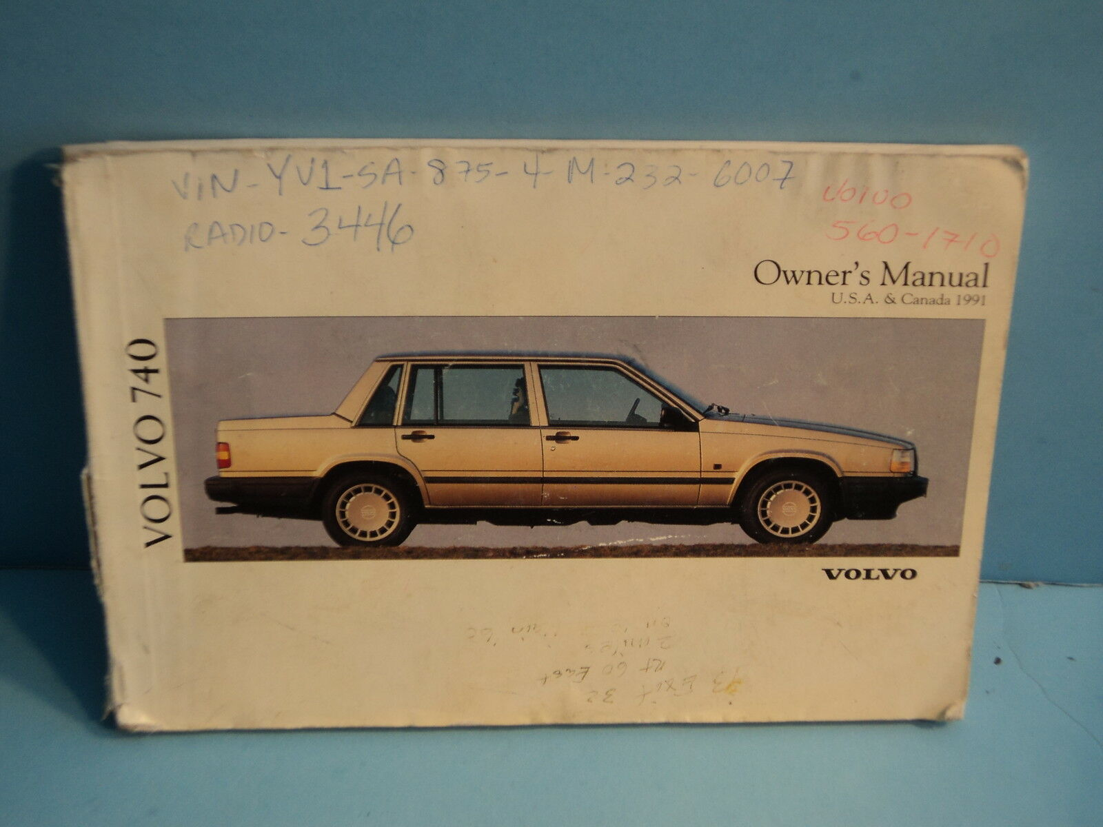 91 1991 Volvo 740 owners manual 1 of 1Only 2 available ...