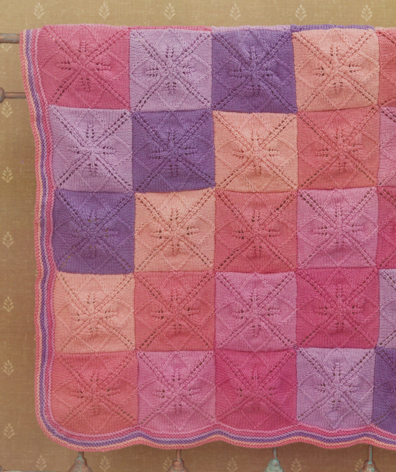 Vogue Knitting Leaf Blanket Pattern : Baby Blanket Knitting Pattern Indivual Leaf Squares ...