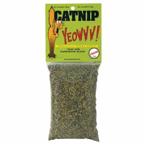 Yeowww catnip bag 0.5oz - use for refilling cat toys scratching posts etc 63058