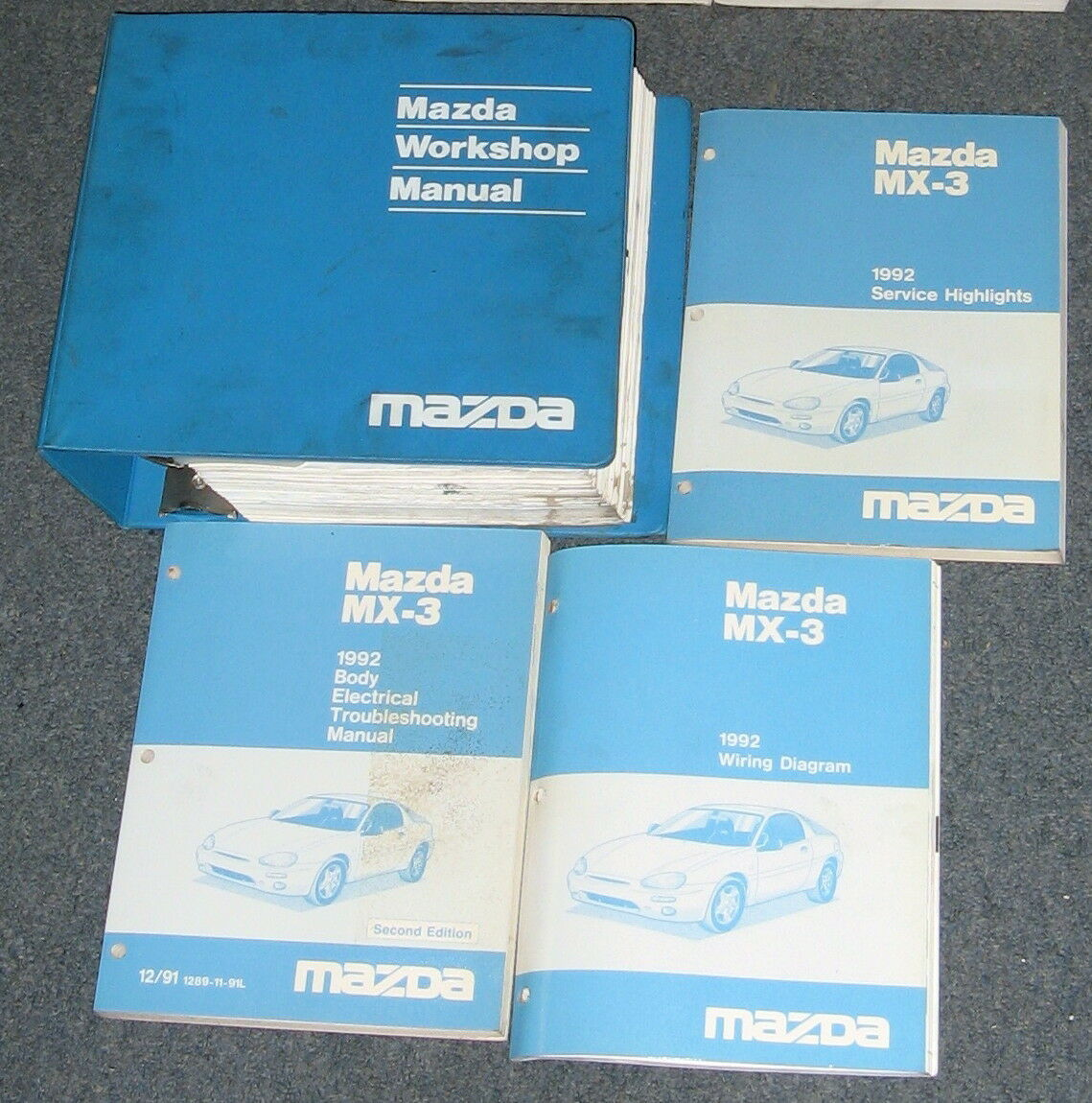 Wiring Diagram Mazda Mx3 1992 Page 3 And Schematics 1993 Engine Mx Service Workshop Manual Set 1 Of 1only Available