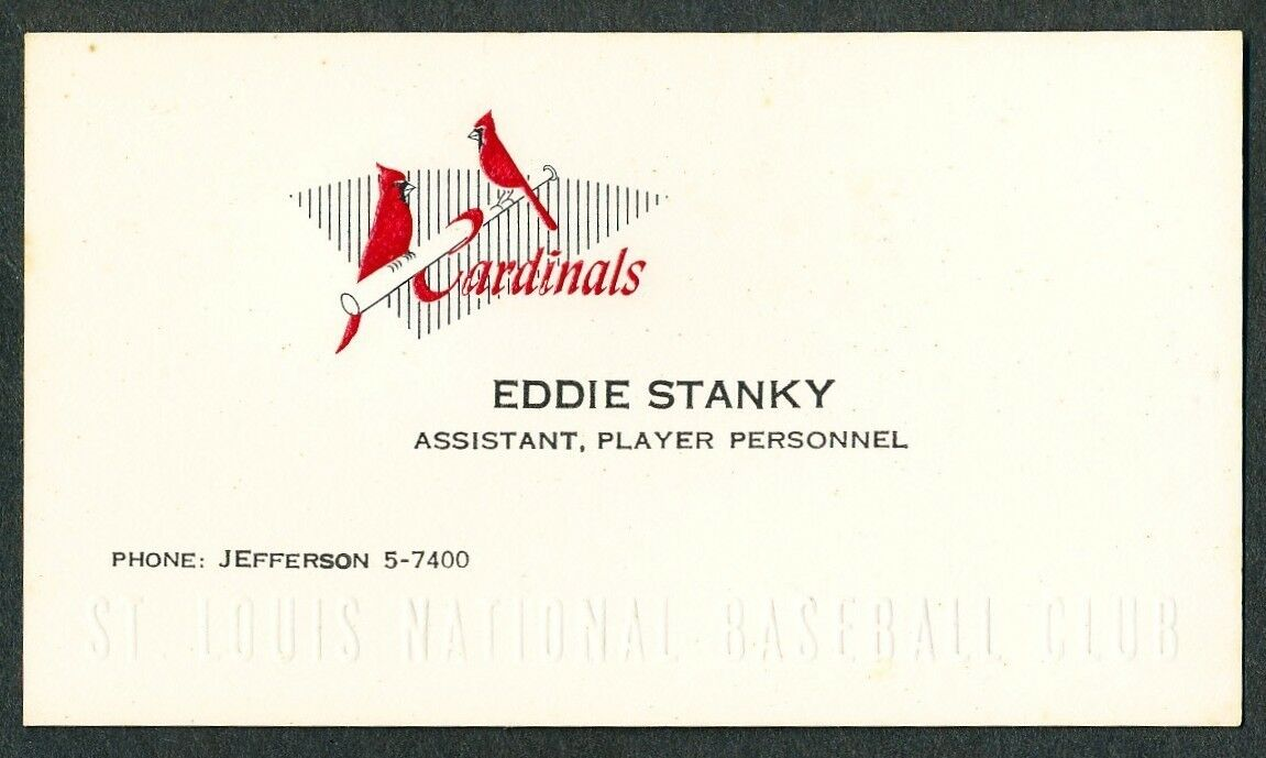 1950s eddie stanky baseball business card 42 jackie robinson hero 1 of 1 see more colourmoves