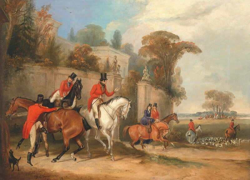 Bachelors Hall: The Meet Pferde Jäger Jagd Hunde England Turner B A3 00089