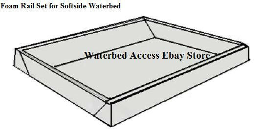 FOAM Rails For Eastern King Softside Waterbed 7 inch Height/Cavity ...