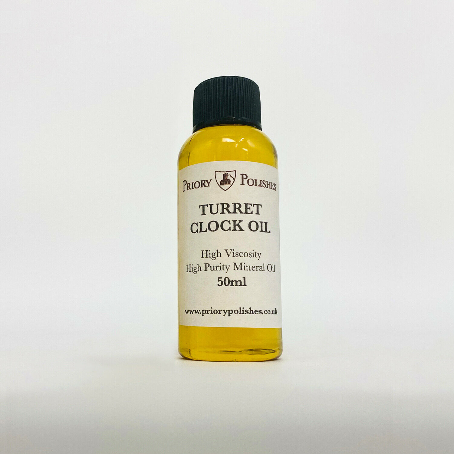 Priory Turret Clock Oil 100 ml- A Quality Heavy Oil for the larger Clocks