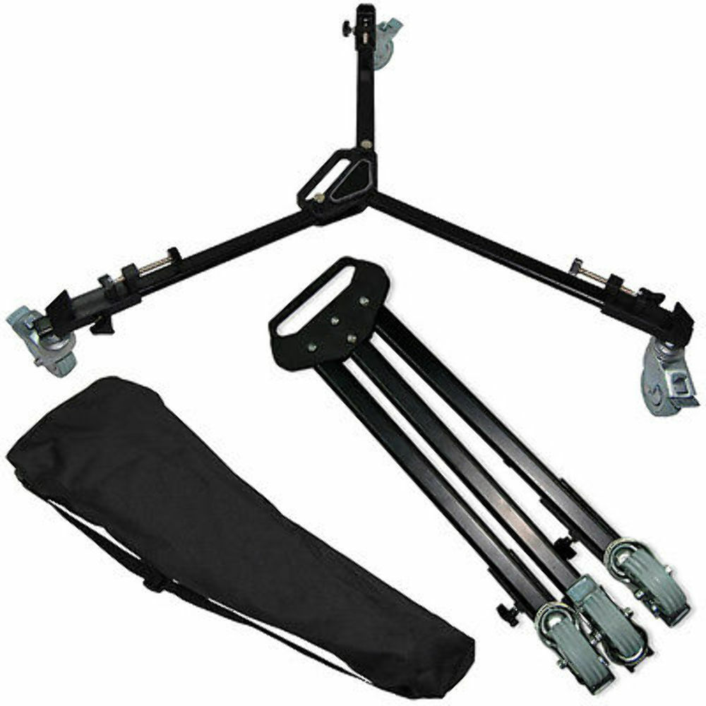 Universal Video Folding Wheels Heavy Duty Slider Photo Tripod Dolly for Stand