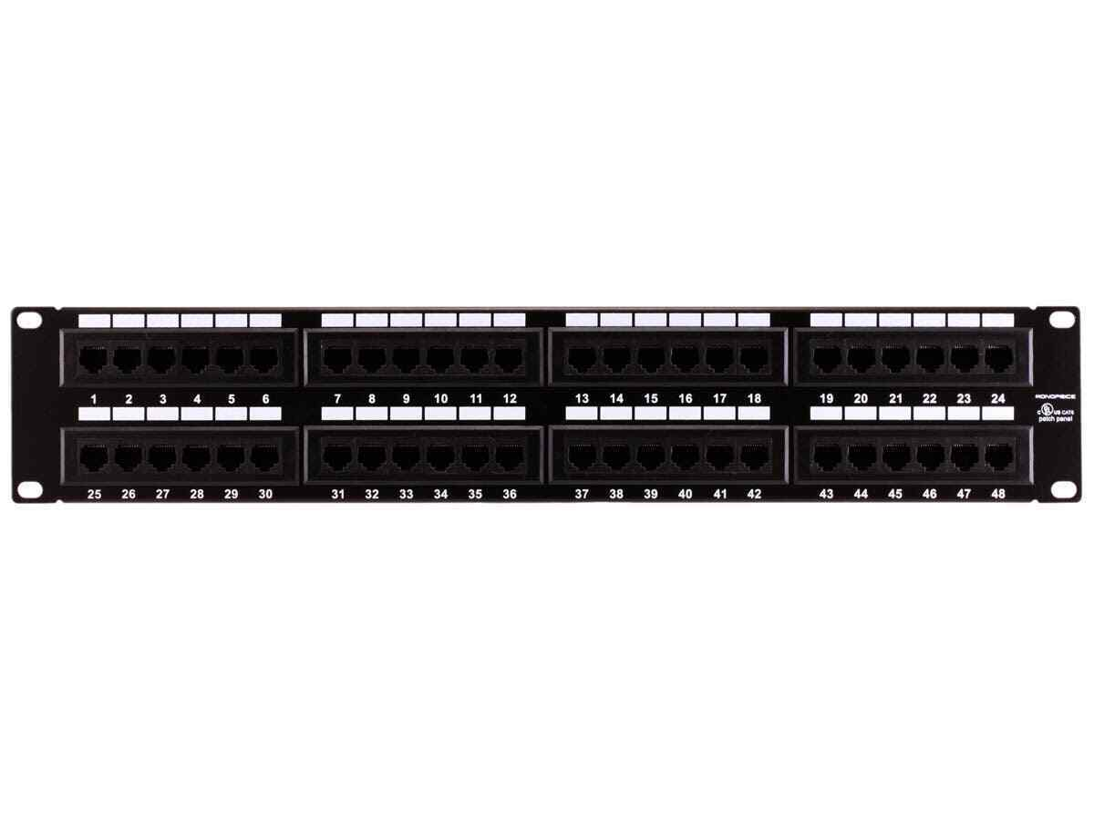 Monoprice 7305 Cat6 Patch Panel 110 Type 48 Port 568a B Compatible Rj12 Wiring Diagram 1 Of 5free Shipping