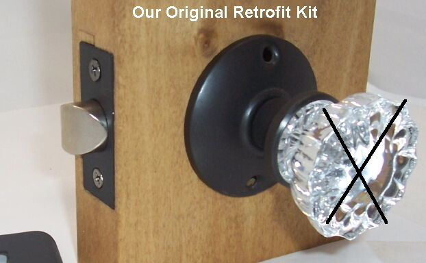 Retrofit Kit-INSTALL YOUR ANTIQUE KNOBS in MODERN DOORS