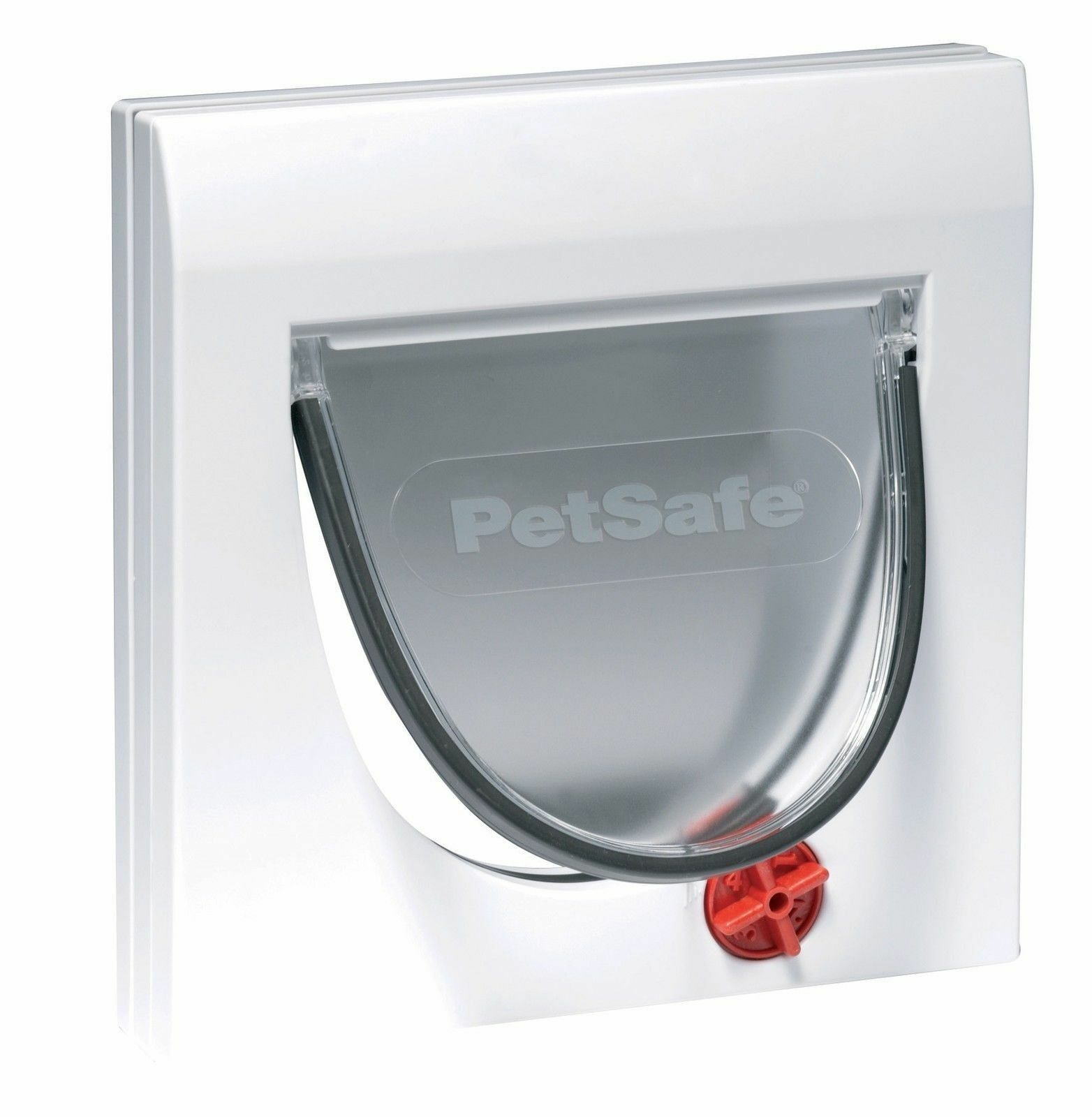 CAT FLAP DOOR IN WHITE WITH 4 WAY LOCKING MECHANISM. (3 Year Warranty)
