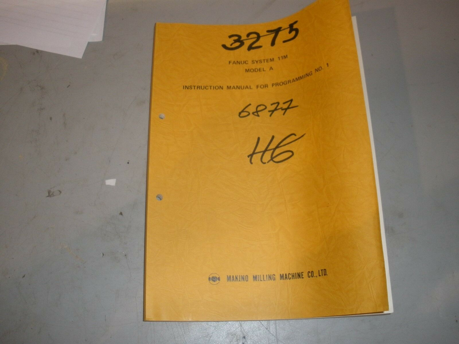 Fanuc 11M Control Programing Manual #1 1 of 1Only 1 available ...