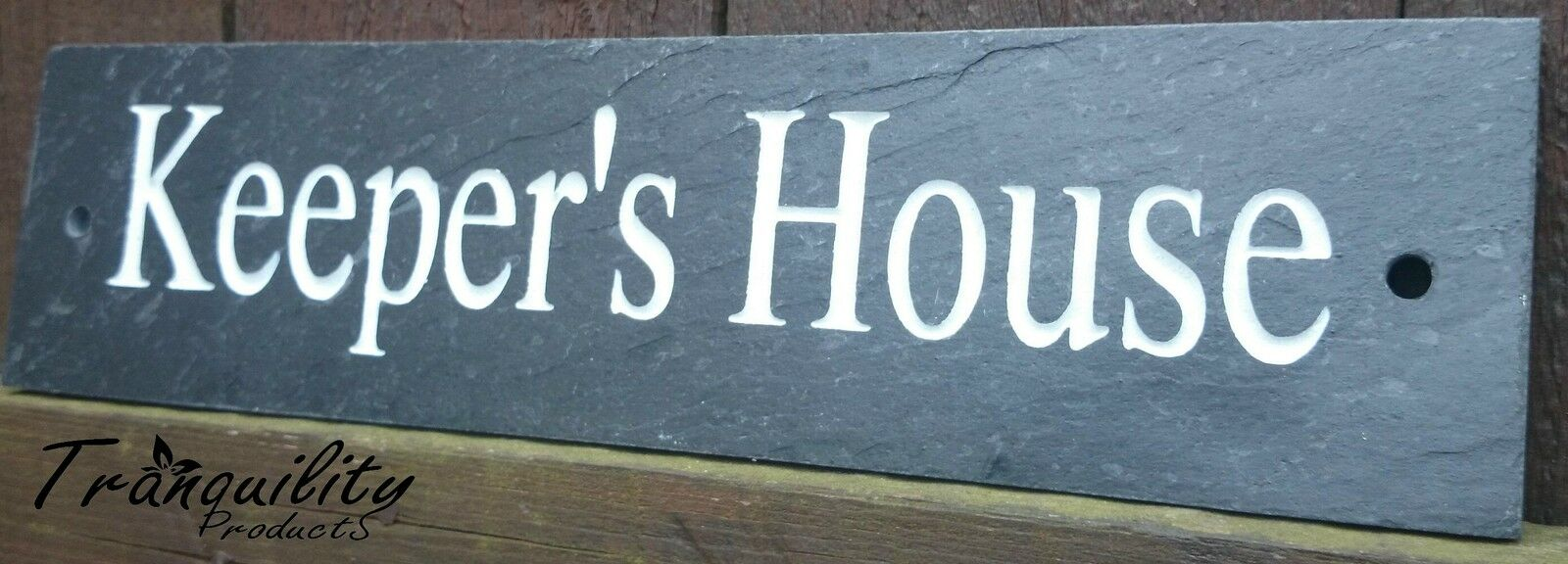 Deep engraved natural slate house name number sign plaque for Deep house names