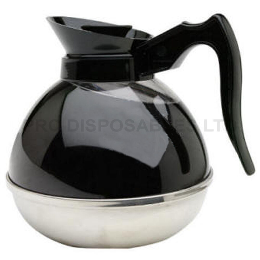 Coffee Jug Shatterproof 1.9 litre 64oz Coffee Filter Machines Stainless Steel ?14.95 ...