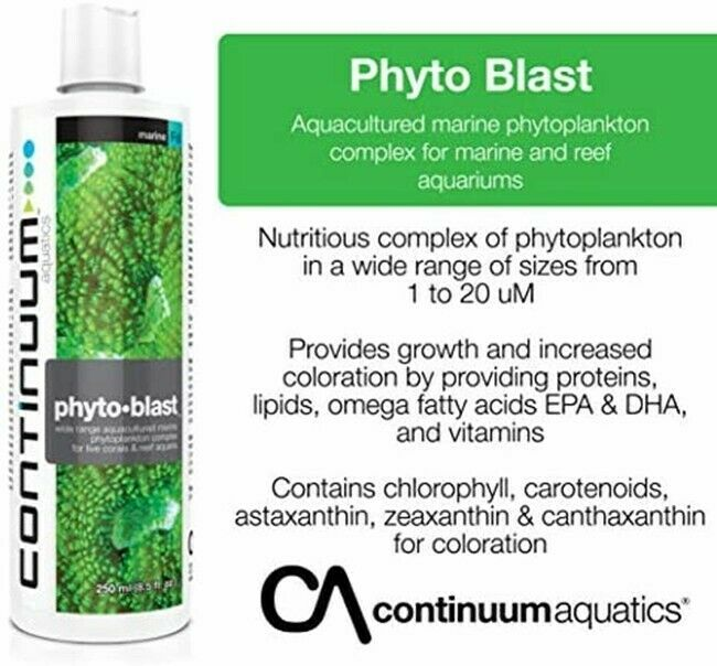 PHYTO BLAST PLANKTON FOR CORALS IN REEF AQUARIA 500ml (High Quality)