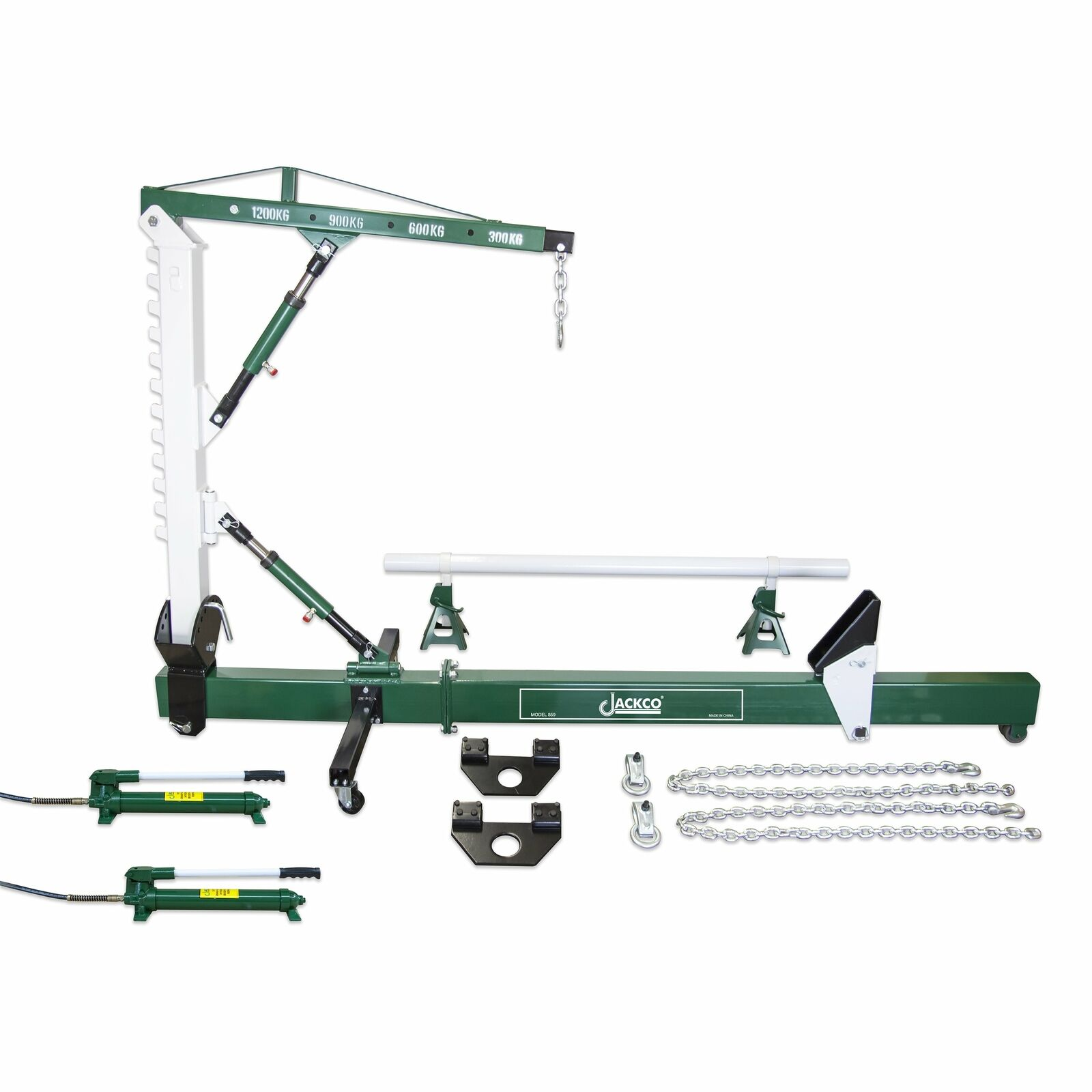 10 TON AUTO Body Frame Repair Straightener with 1.2 Ton Crane and ...