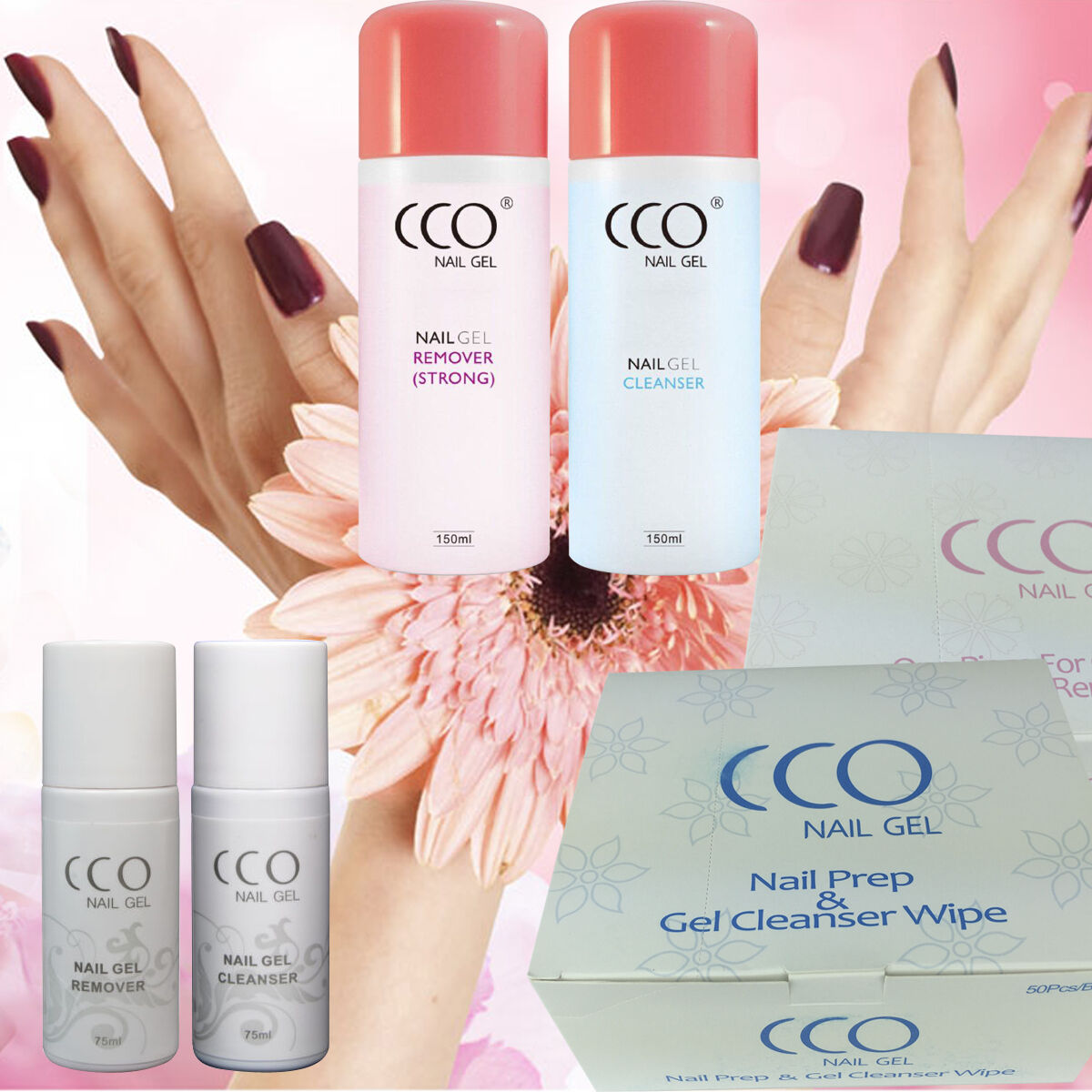 CCO NEW UV LED Nail Gel Polish Cleanser and Remover Soak Off Wipes ...